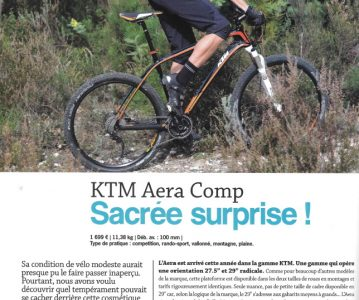 Le KTM Aera dans le magazine Vélo Tout Terrain de mai 2014