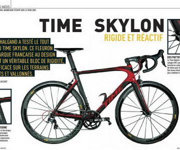 Le nouveau Time Skylon déjà en test chez Vélo Magazine de août 2014